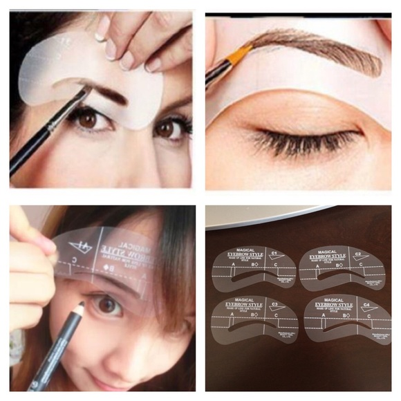 Accessories 4 Different Type Eye Brow Shaping Template Poshmark