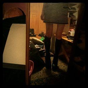 7c61853826d Dresses   Skirts - Striped spagetti strap knit dress with pockets
