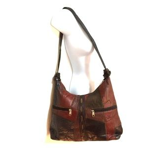 HP  VINTAGE leather PATCHWORK CROSS BODY PURSE
