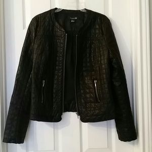Forever 21 Jackets & Blazers - Quilted Moto Biker Jacket