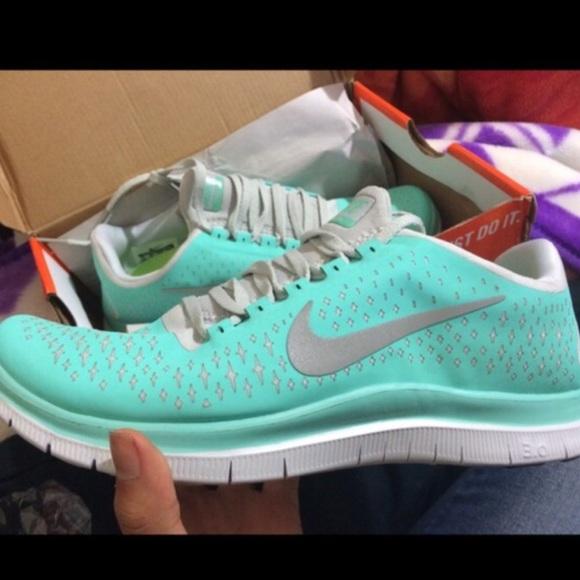 3546997c003a Nike Shoes - Tiffany blue nike free run 3.0 shoes