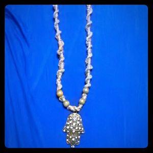 Jewelry - Hamsahand hemp necklace