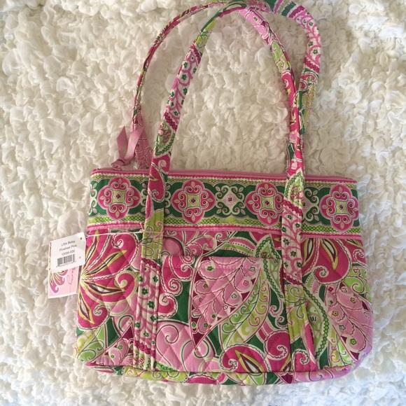 8be0c868d6 NWT Vera Bradley Little Betsy pinwheel pink purse