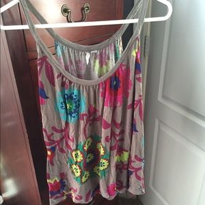 Beautiful floral old navy tank