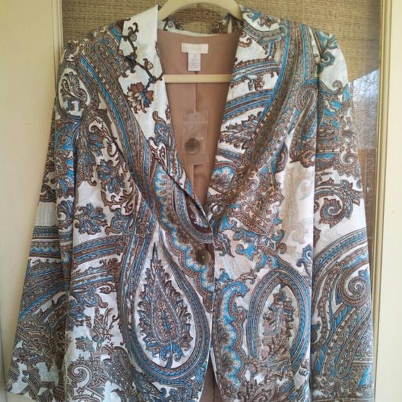 Chico's Jackets & Blazers - FLASH SALE! NWT Gorgeous Chico's Paisley Jacket