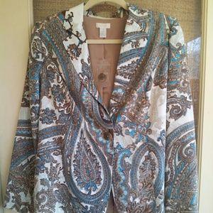 Chico's Jackets & Coats - FLASH SALE! NWT Gorgeous Chico's Paisley Jacket