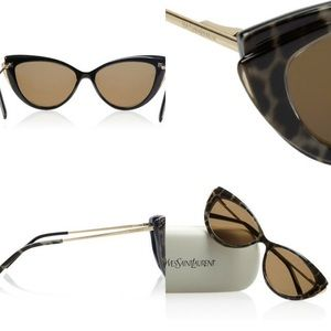 eaeeb8552e Saint Laurent Accessories -  Saint Laurent petite plastic cat s-eye  sunglasses