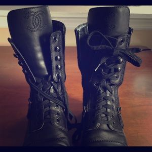e26239e4d2b4 ... CHANEL Shoes - Chanel Quilted Leather Combat Boots high quality 4c753  0f7e1 ...