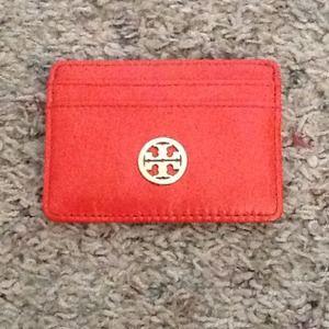 Tory burch card case orange