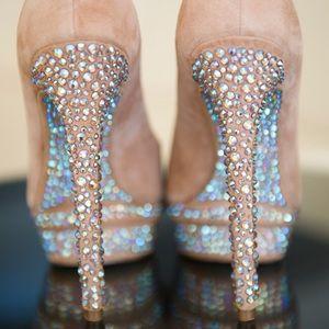 🎉HP!🎉 Brian Atwood Crystal Rhinestone pump heels