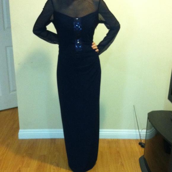 Ralph Lauren Dresses   Navy Blue Long Eveningprom Dress   Poshmark