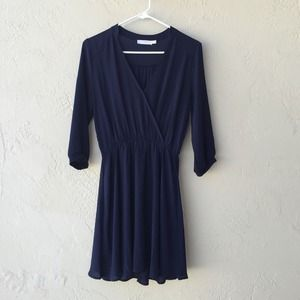 Lush Dresses & Skirts - Navy Dress
