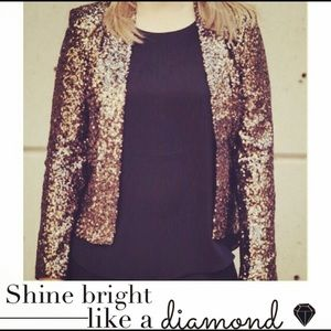Gold Sequin Blazer!