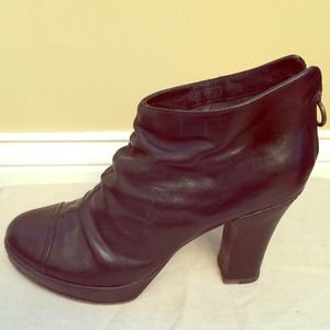 Fiorentini & Baker Black Leather Ankle Boot Sz 41