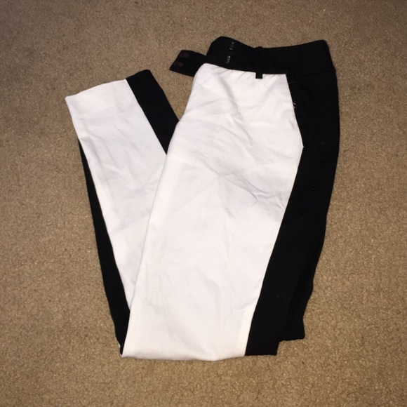 80% off Mossimo Supply Co Pants - Half Black Half White Trousers ...