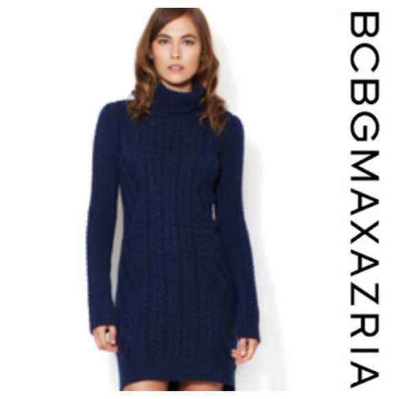 6cc971ad92 BCBG Dresses & Skirts - BCBG Max Azria blue cable knit sweater dress 💙