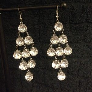 Crystal chandelier earrings!