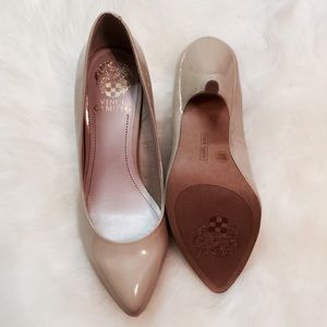 New Vince Camuto Kitten Heel Nude Shoes!