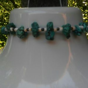 "Vintage NWOT 16"" Turquoise Choker"