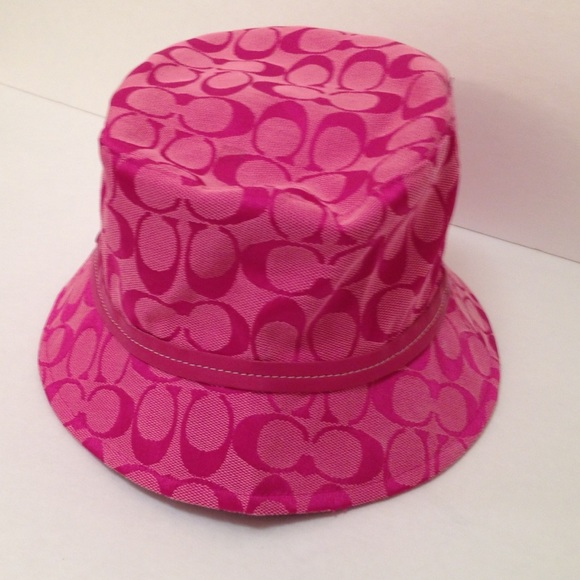 Bucket Hat Pink Pink Coach Bucket Hat