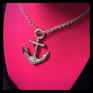 Jewelry - Jeweled Nautical Anchor Necklace