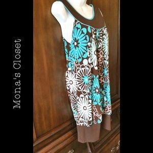 Trixxi Dresses & Skirts - 💠 Brown & Teal Bubble Dress