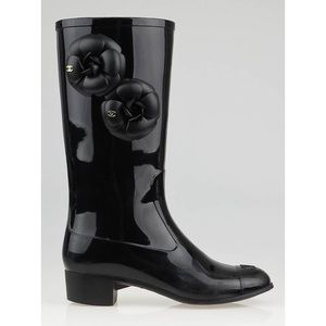 Chanel Camellia Flower Rain Boots