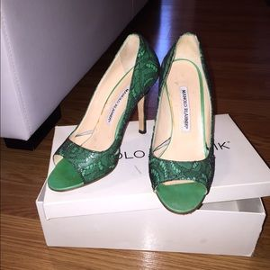 100% authentic Manolo Blahnik shoes