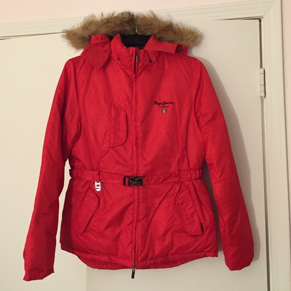 06678005381 Pepe Jeans London Red Heavy Ski Coat. M 54d63f11f739bc1a07010321