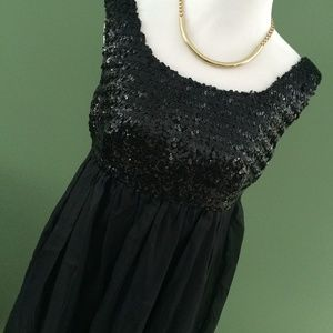 1960s style Black sequin vintage dress