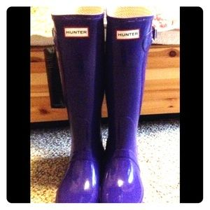 Hunter tall adjustable  original gloss rain boots