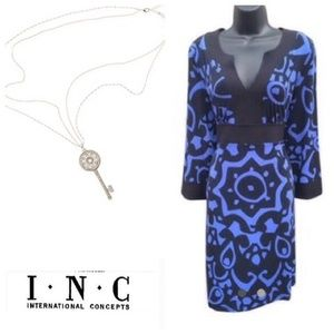 NWOT INC International Concept Printed Dress
