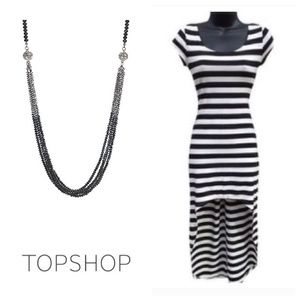 TopShop Hi Low Stripe Dress