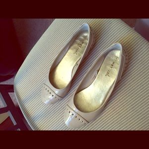 Nude flats with gold studs