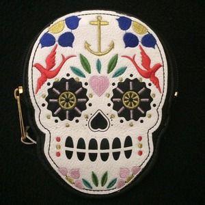Handbags - Loungefly Sugar Skull Large ID and Coin Wallet