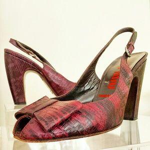MIU MIU Snake Print Shoes