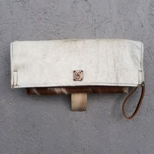 Freddy Handbags - Hand made brindle hair-on hide leather clutch