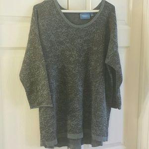 Vera Wang Charcoal sweater tunic. NWOT