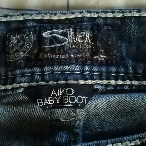 silver aiko baby boot jeans - Jean Yu Beauty