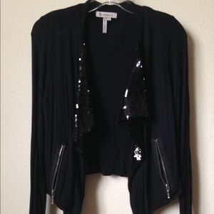 BCBGeneration Jackets & Blazers - Jersey sequin jacket