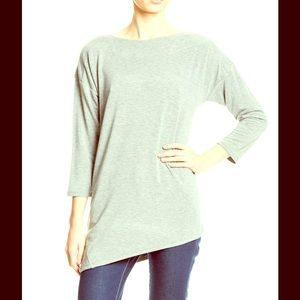 Oversized Loose Knit Cape Grey T Shirt NWT