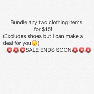 Other - Bundle any two items for $15!