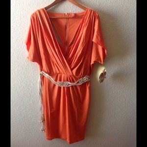 Sexy orange, Apple Bottoms dress.  NWT!!