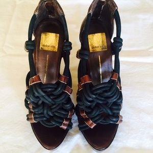 Dolce Vita Woven Wooden Wedges