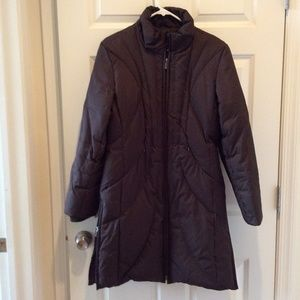 AK Anne Klein Brown Down Jacket