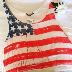 NWT Brandy Melville American Flag Top