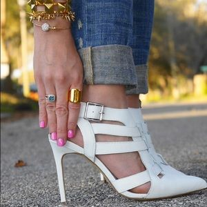 "Shoemint ""Garbo"" White Heels"