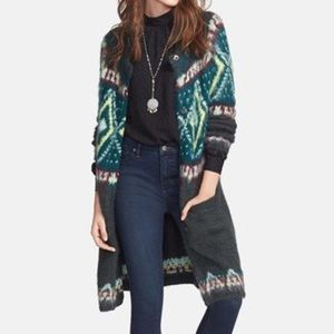 Free People Frosted Fair Isle Cardigan