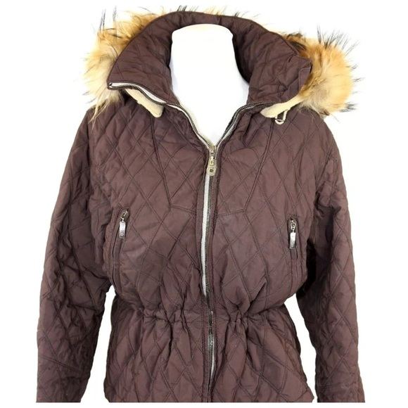 Postcard Of Italy Jackets Coats Postcard Italy Brown Quilted Fur