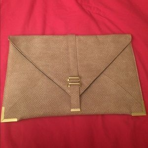 Asos envelope clutch with gold accents
